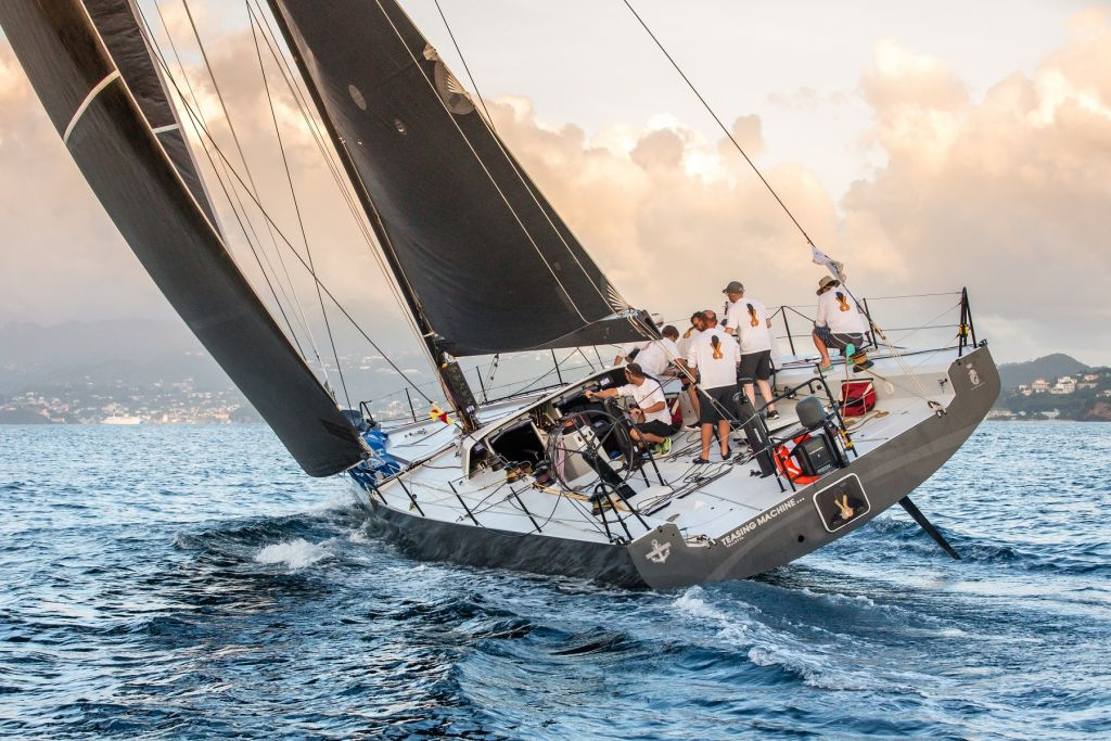 Arriving in the sunny Caribbean after the Atlantic crossing in the RORC Transatlantic Race © Arthur Daniel